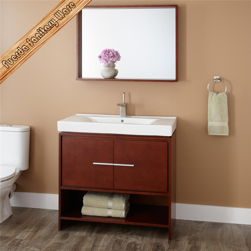Fed-1249 Solid Wood Bathroom Vanity, Bath Cabinet