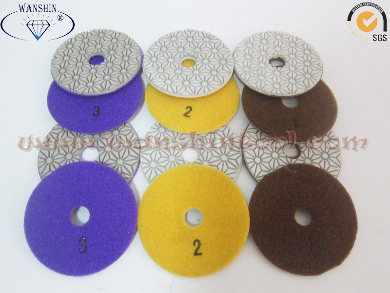 Popular 3-Step Wet Polishing Pads for Granite Marble