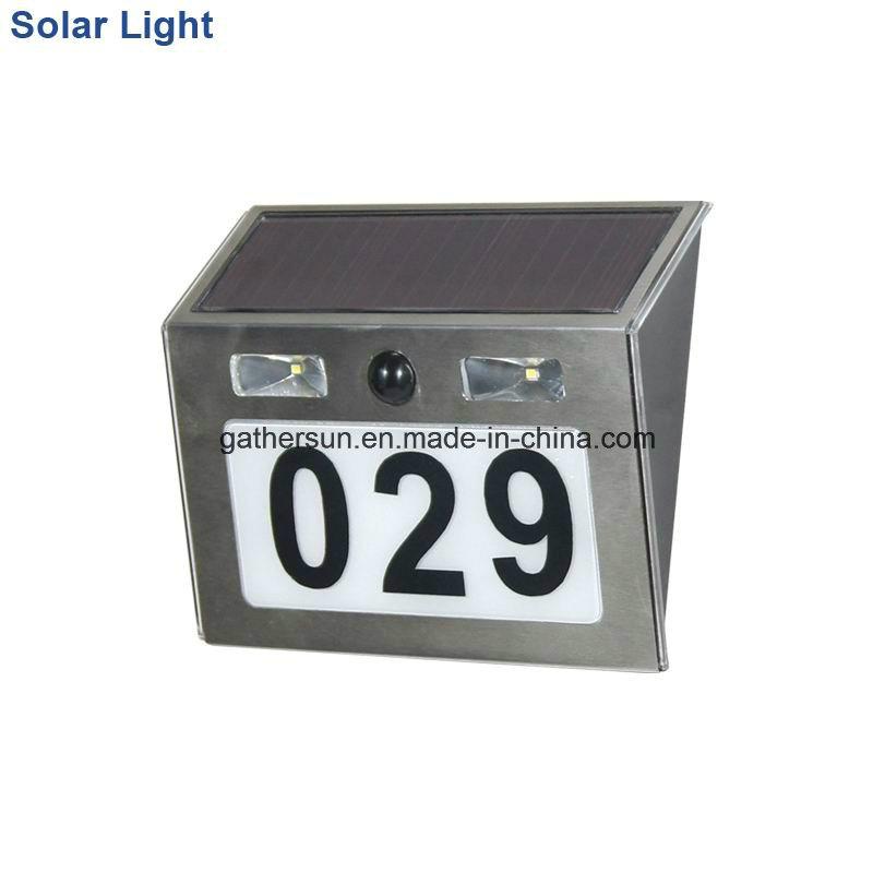 Solar Doorplate Lighting with Light Sensor