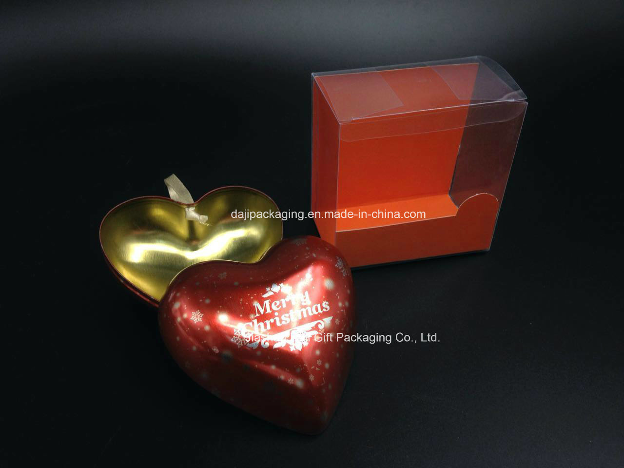 Heart-Shaped Metal Tin Packaging Box (H001-V5)