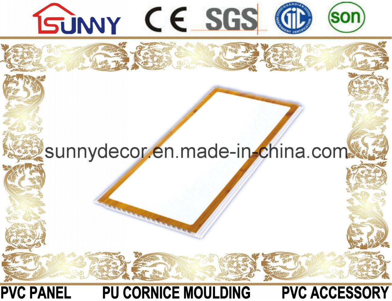 Lamination PVC Panel PVC Ceiling PVC Wall Panel Decoration Waterproof Material