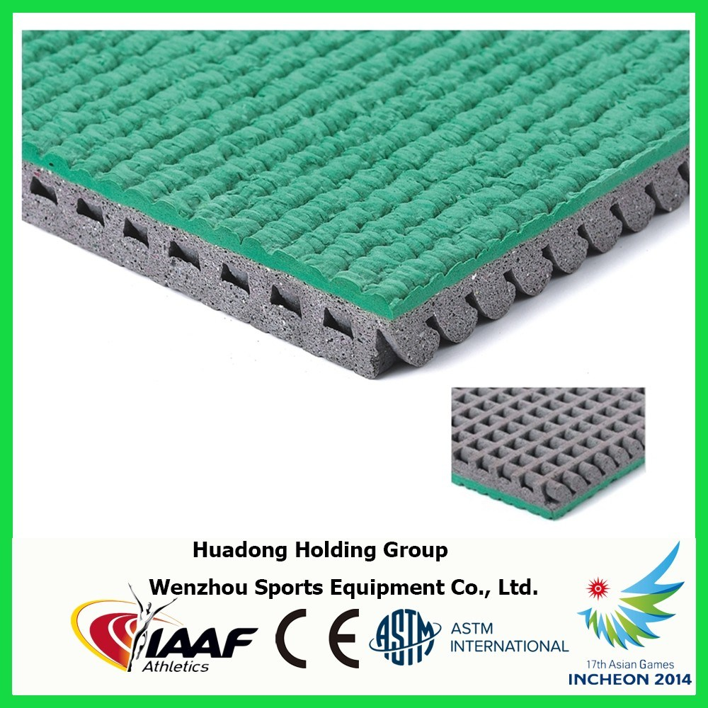 Rubber Flooring for Exterior Playground, School, Track and Field