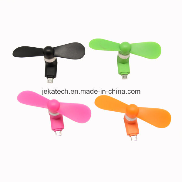 Portable Micro USB Phone Mini Fan with Two Leaves