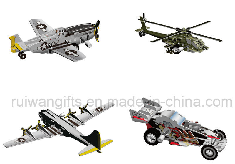 Fighter Jigsaw Puzzle 3D Kids Toy, Children DIY Puzzle