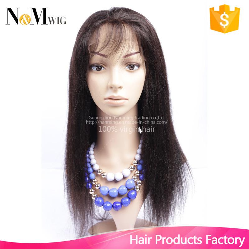 Italian Yaki Full Lace Human Hair Wig Brazilian Yaki Straight Lace Front Wig Silk Top Full Lace Human Hair Wig for Black Women