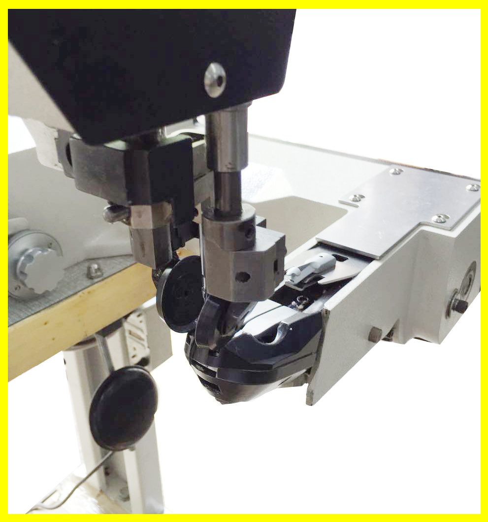 Double Needle Lock Stitch Computerized Shoe Upper Pattern Sewing Machine