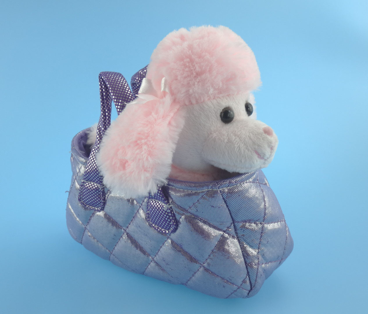 Cute Plush Toy Poodle/Dog with Her Bag