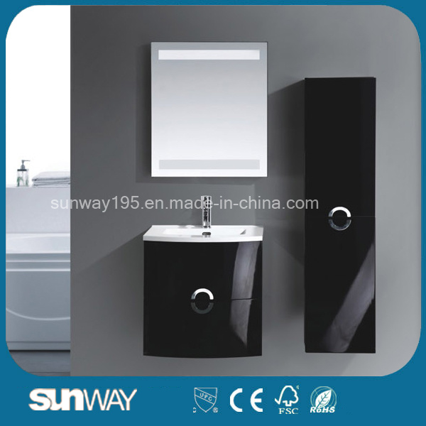 Latest Wall Mounted MDF Bathroom Furniture with Side Cabinet