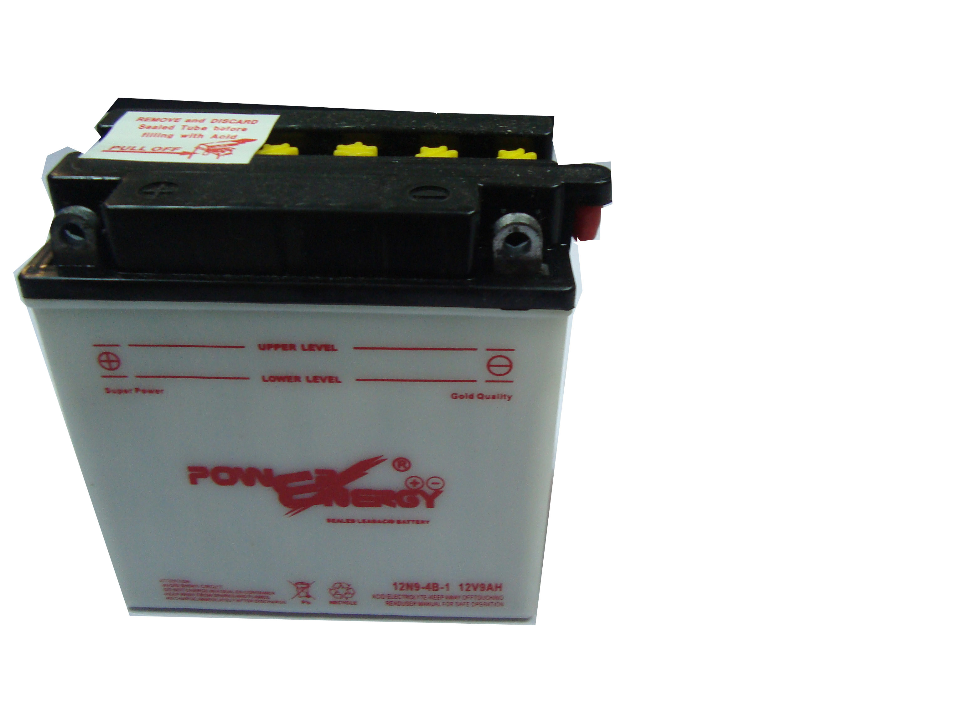 12N9-4B-1 12V9ah Conventional Flooded Lead Acid Dry Charged Motorcycle Battery