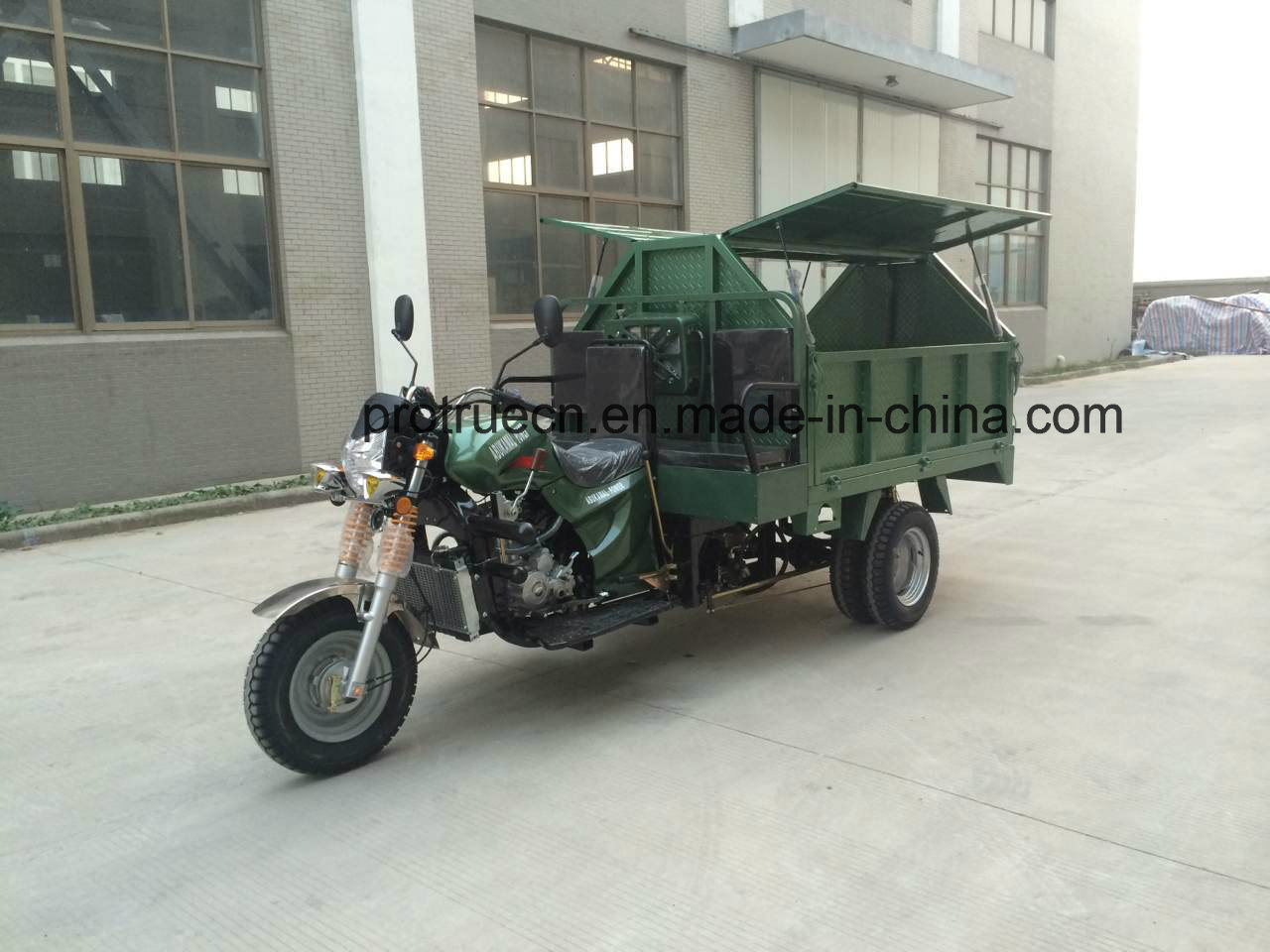 250cc Powerful Garbage Tricycle with Hydraulic Pump 2 Ton