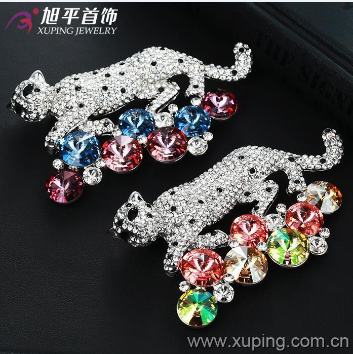 Xuping Fashion Luxury Rhinestone Crystals From Swarovski Brooch for Women in Environmental Copper