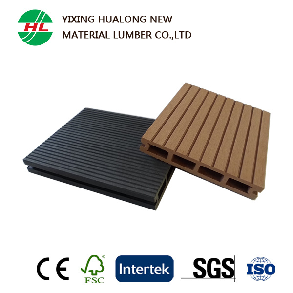 Anti-UV Wood Plastic Compsite Decking for Outdoor (HLM134)