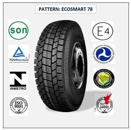 315/70r22.5 (ECOSMART 78) with Europe Certificate (ECE REACH LABEL) High Quality Truck & Bus Radial Tires