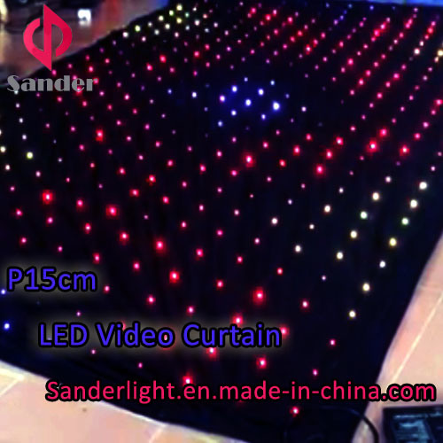 2016 Customized Programmable P12cm Flexible LED Video Screen LED Curtain Screen