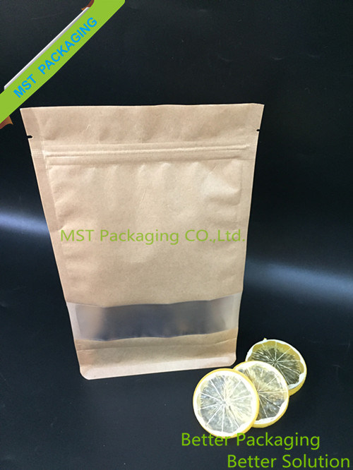 Kraft Paper Bag with Clear Window/Stand up Pouch