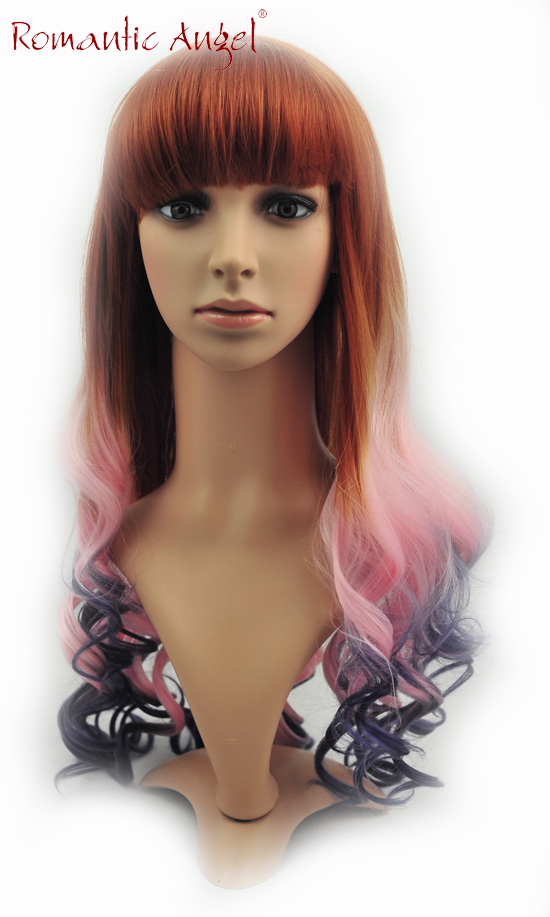 Colorful Fashion Curly High Quality Synthetic Halloween Wigs