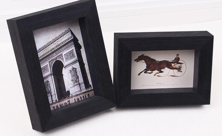 3D Deep Wooden Shadow Box Photo Frames
