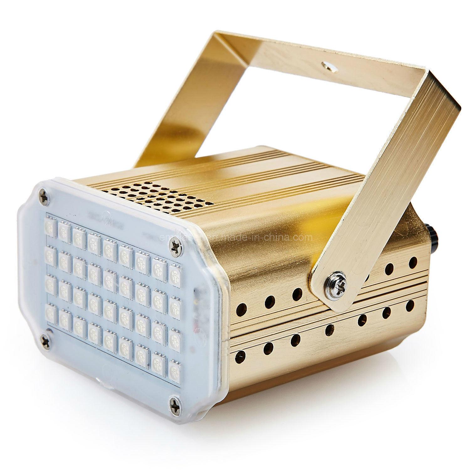 New LED Strobe Light for DJ 36 PCS LED SMD 5050 RGB Strobe Party Stage Light with Sound Auto Control Mode