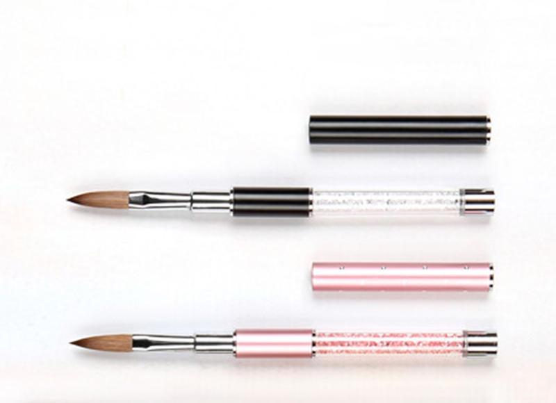 Acrylic Handle Mink Hair Nail Cosmetic Brush