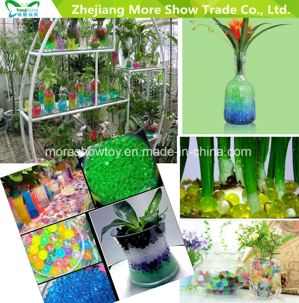 Cube Crystal Soil Water Beads Wedding Decoration Vase Table Centrepiece