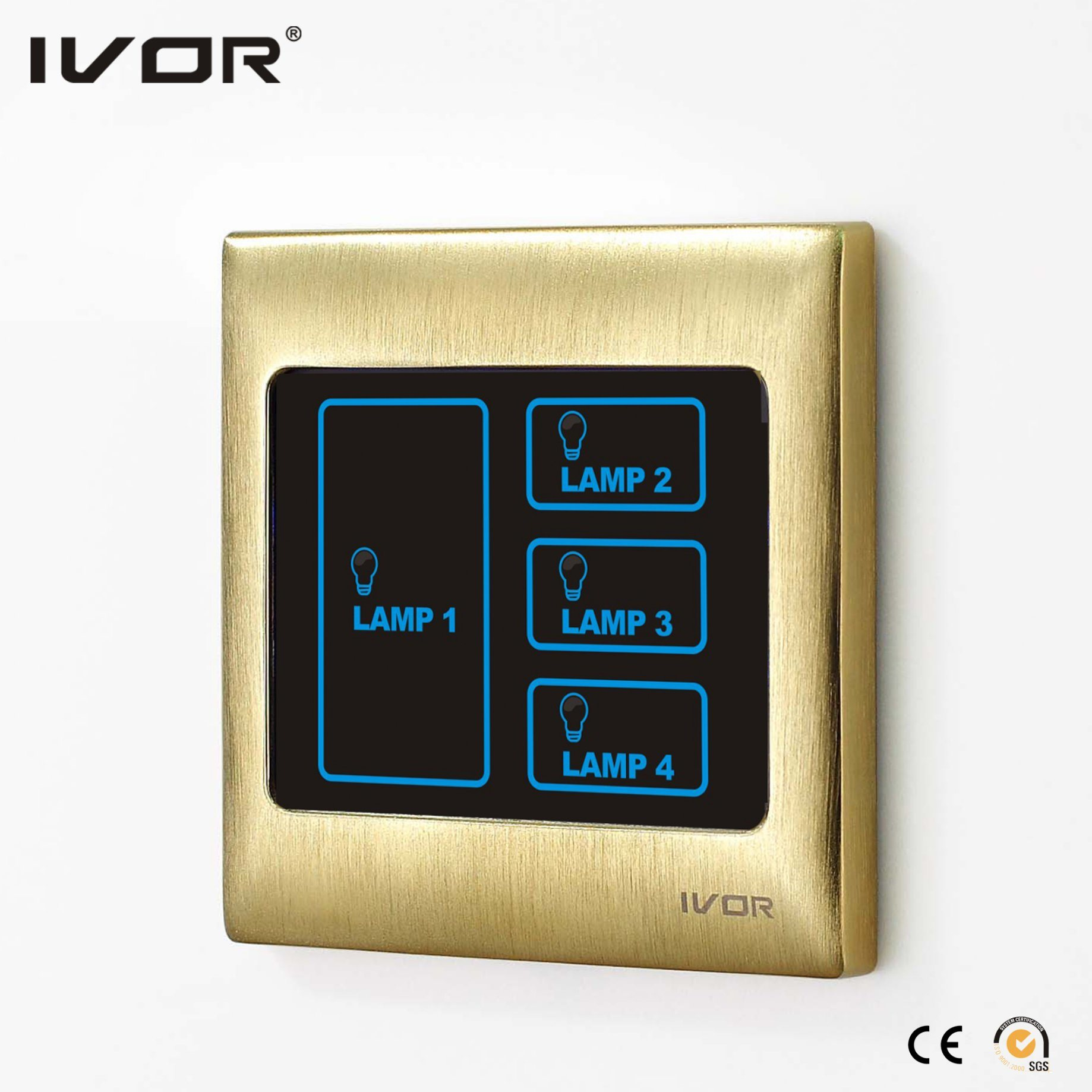 4 Gangs Light Switch Control & 2 Gangs Scene Setting Touch Switch (SK-T3000CAN)