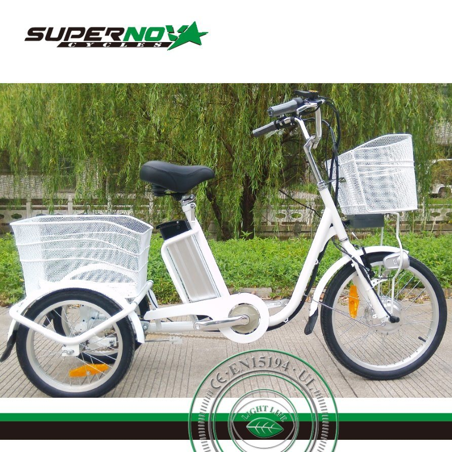 Electric Cargo Tricycle with Lithium Battery 6061 Alloy Frame