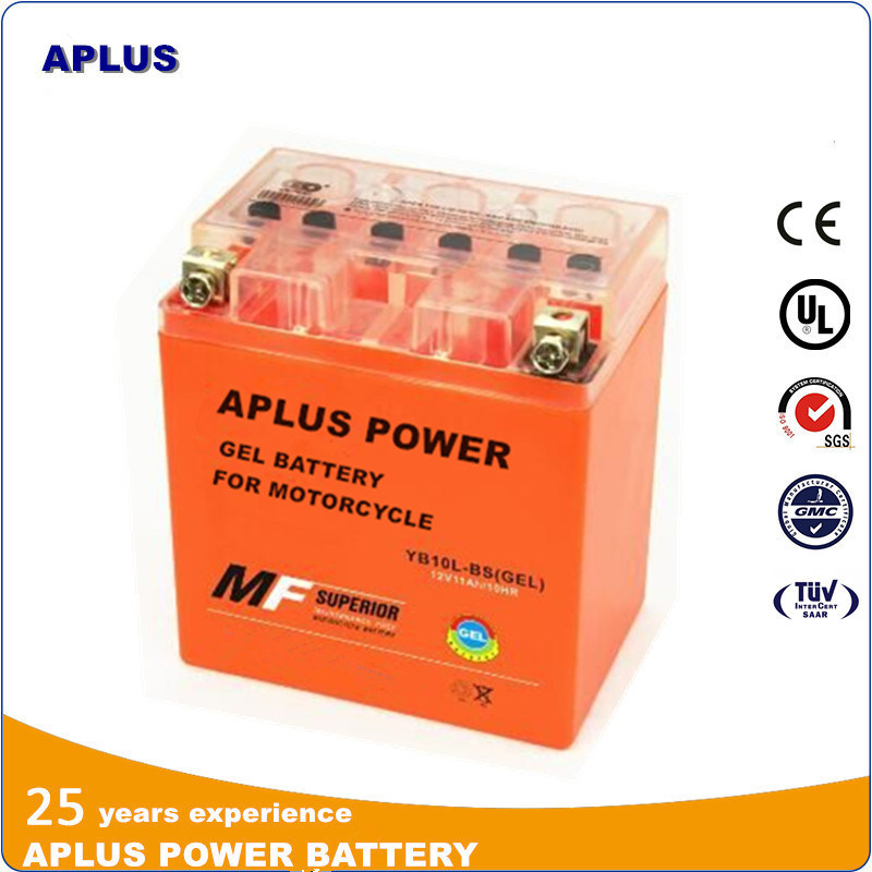 AGM Batteries in Gel Type for Motorcyle Yb10L-BS 12V 11ah