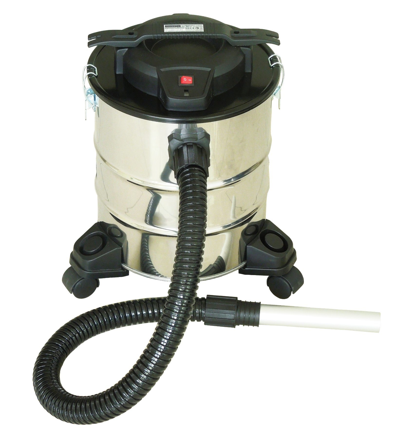 501-23L Electric Dry Dust Fireplace Ash BBQ Ash Vacuum Cleaner with Filling Indicator with or Without Wheelbase