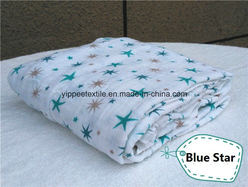 Super Soft &Smooth 70%Bamboo 30%Cotton Muslin Wrap Swaddle. 120X120cm