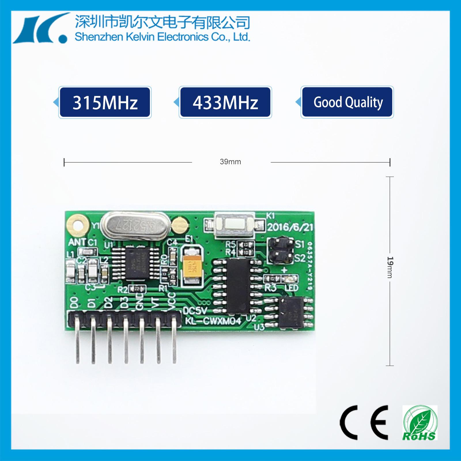 Super Heterodyne High Sensitivity RF Receiver Module Kl-Cwxm04