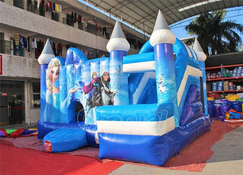 Inflatable Frozen Theme Bouncer Combo Bouncy Castle with Slide (CHB1128)