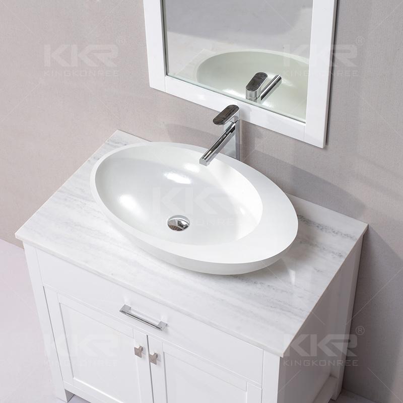 Sanitary Ware Resin Stone Solid Surface Bathroom Washing Basin (B170819)