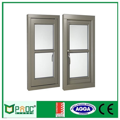 Aluminum Crank Window with Wood Grain