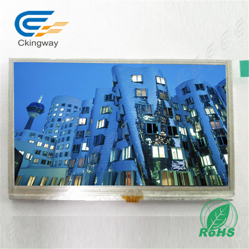 """4.3"""" 600cr 40 Pin LCD Screen Display Module with Resistive Touch Screen"""