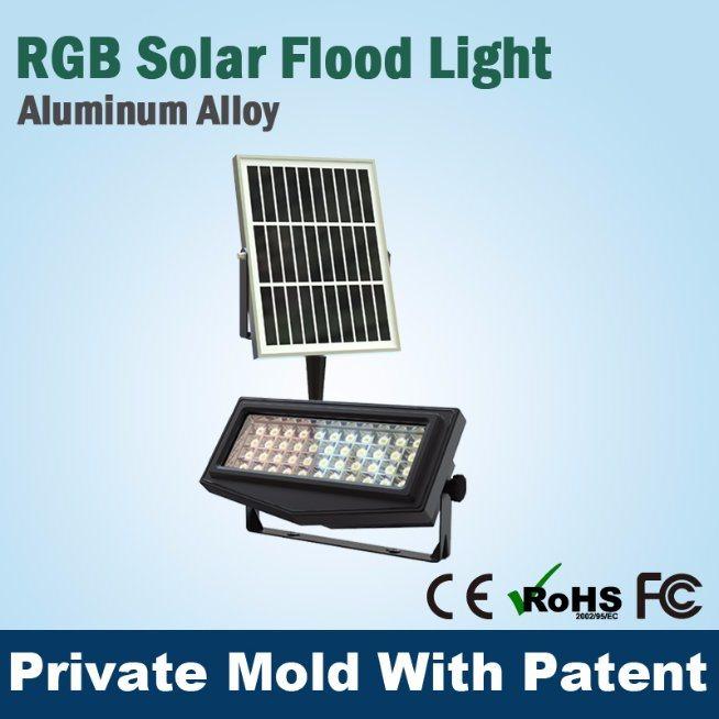 Decorative RGB Solar Flood Light LED Light