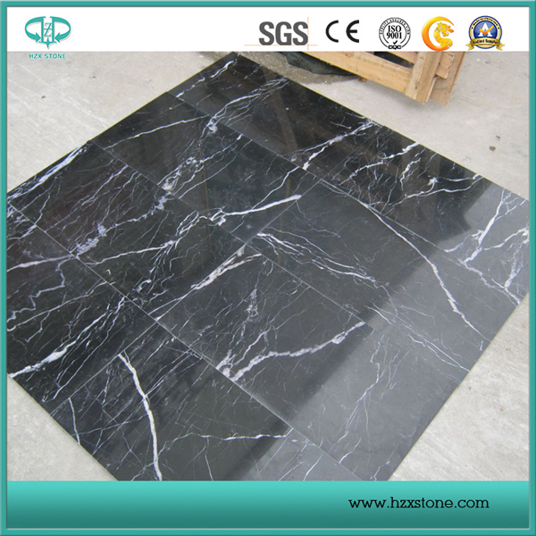 Honed/Polished/Brushed/Antique Black Nero Marquina Slabs and Tiles