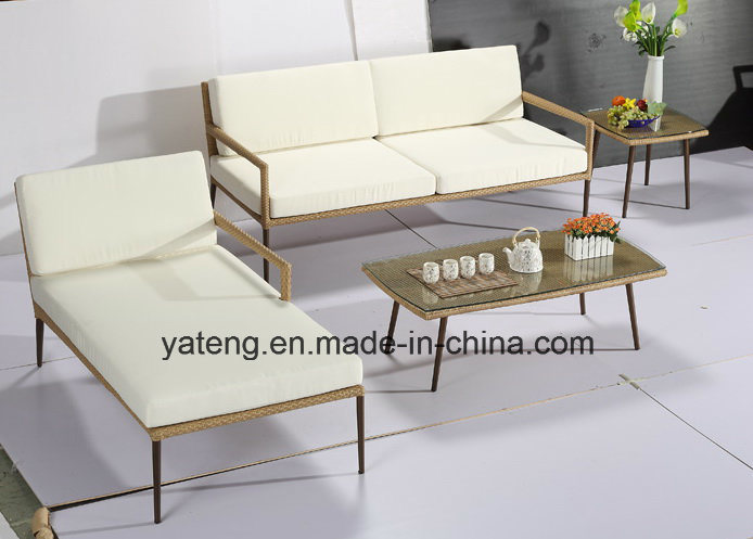 New Design Hotel Furniture Outdoor Patio Pool Side Furniture Sofa Set with Alum &PE-Rattan Furniture