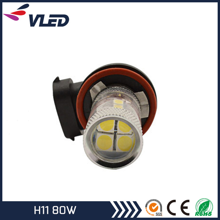 12V Auto LED Light Bulb H11 H16 H3 80W Fog Lights for Car