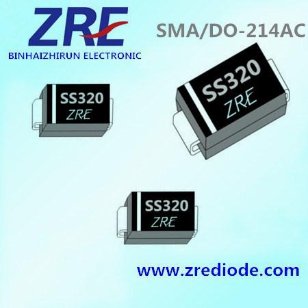 3A Schottky Barrier Rectifier Ss32 Thru Ss320 SMA/Do-214AC Package