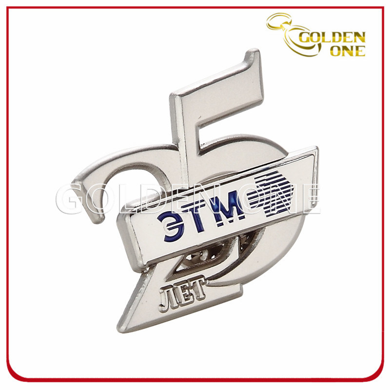 Nickel Finish Custom Design Hard Enamel Metal Lapel Pin