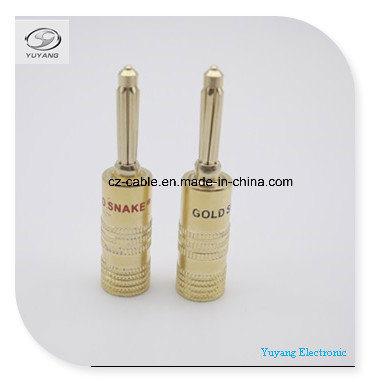 Banana Plug/Jack for Audio/AV/Media Cable Gold Colour