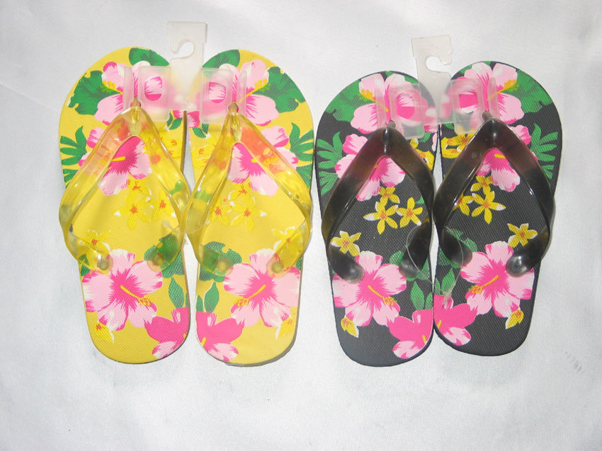 PE Foam Flip Flop with Flower on Thong