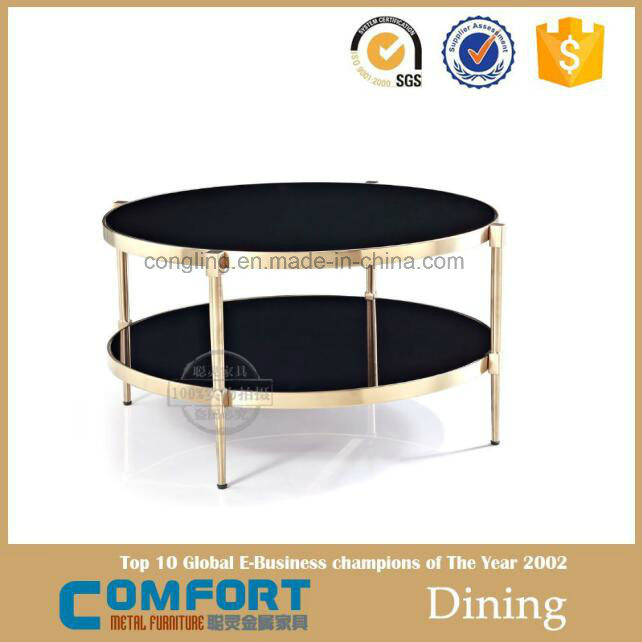 Modern Design Hot Sale Gold Furniture Round Coffee Table