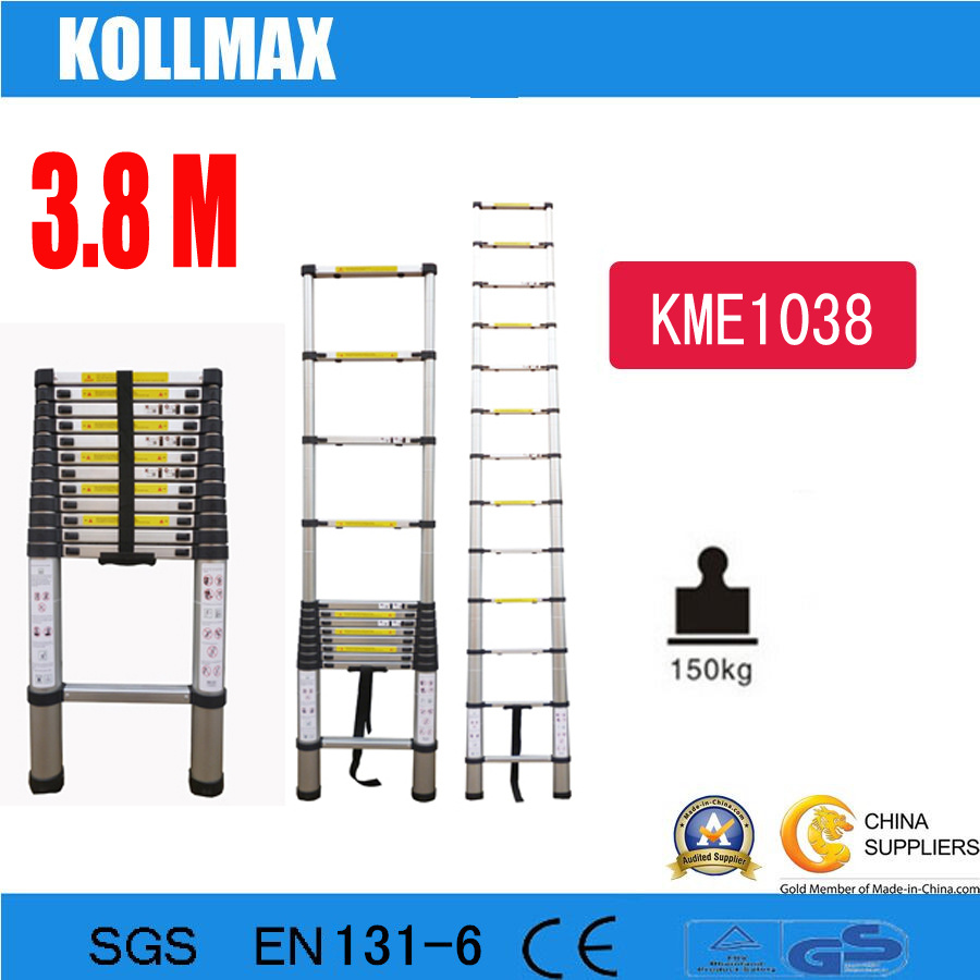 3.8m Telescopic Aluminium Single Ladder