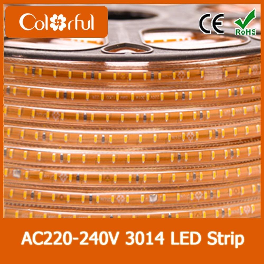 High Voltage Flexible AC230V SMD3014 LED Strip