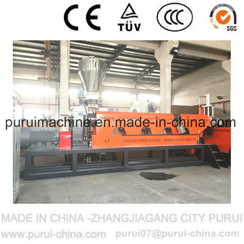 Plastic PP PE Film Bottle Flakes Recycling Pelletizing Machine