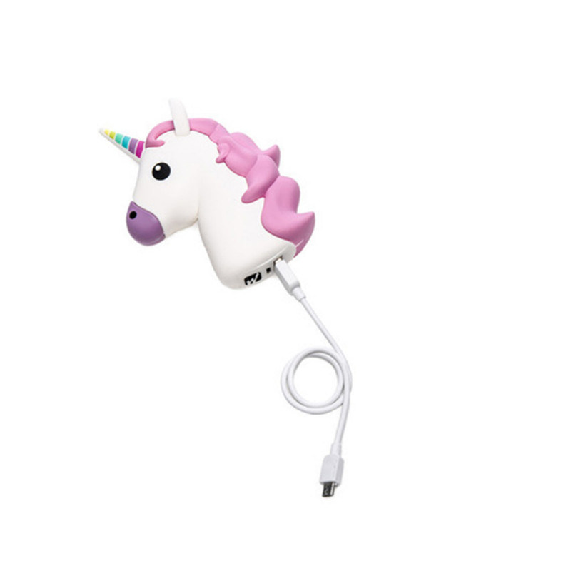 Fashionable 2600mAh Unicorn Power Bank Mobile Phone Accessories