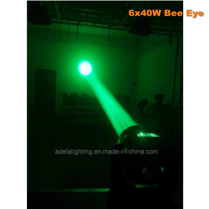 6X40W Bee Eyes LED Moving Head Beam Zoom Wash Stage Disco DJ Light