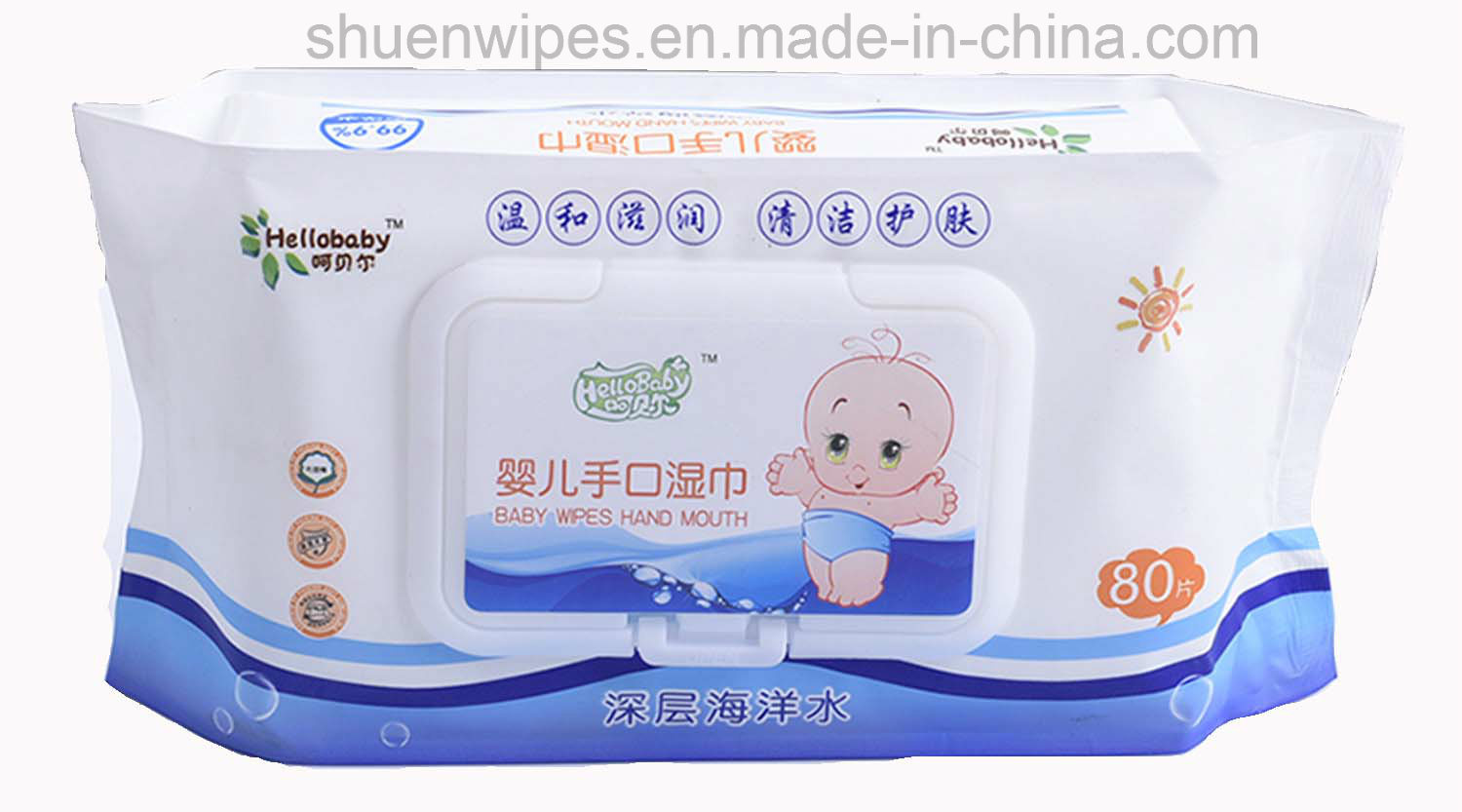 The Newest Non-Woven Baby Wet Wipes 80 PCS