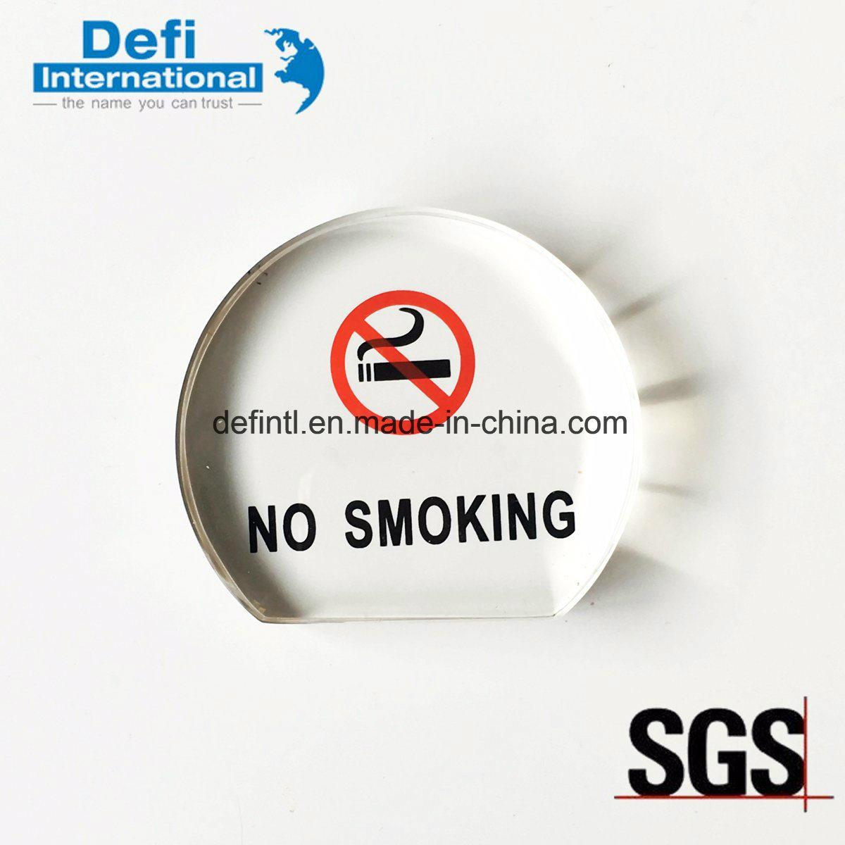 No Smoking Sign Clear Acrylic Display